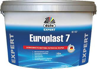 Фарба DUFA Європласт 7 DE 107 латексна п матова 10 л Білий 3882 ES, КОД: 2373649