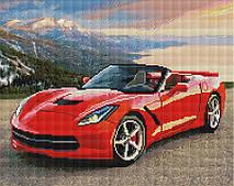 Красный спорткар