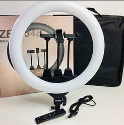 Кольцевой свет Ring Light лампа светодиодная с тремя гибкими держателями для телефона пультом ES, КОД: 2405365