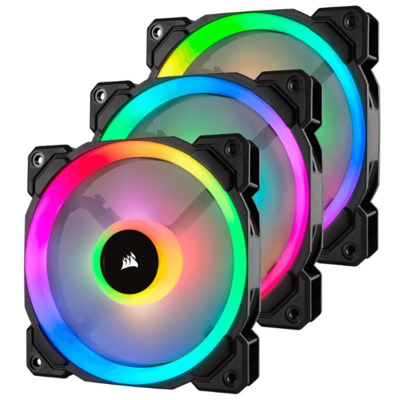 Вентилятор Corsair LL120 RGB 3 Fan Pack (CO-9050072-WW), 120x120x25мм, 4-pin, черный