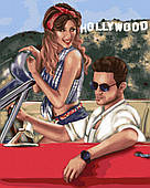 Пара в Голливуде