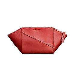 Женская кожаная косметичка BlankNote Краст Красная BN-CB-2-red ES, КОД: 1629202