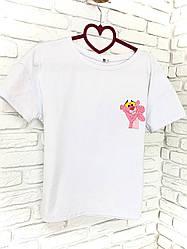 Футболка Inrtuder XS-S Белая с принтом Розовая пантера 1591632628 ES, КОД: 1829660