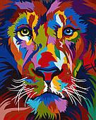 Яркий портрет льва