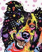 Пес в красках