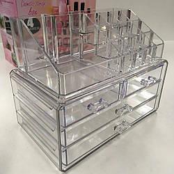 Органайзер для хранения косметики и аксессуаров Cosmetic Storage Box акриловый со съемными пр ES, КОД: 2405558