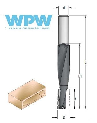 Фреза цилиндрическая для выборки пазов (до 120 мм) под дверные и мебельные замки D = 18 мм, хвостовик = 12 мм.