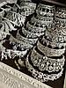 Корона і сережки, діадема з зеленими каменями, набір прикрас Офіру, фото 5