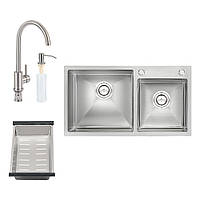 Мийка S7843 SET кухонна подвійна (інтегрована) QT