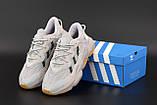 Мужские кроссовки Adidas Ozweego в стиле Адидас Озвиго Серые (Реплика ААА+), фото 5