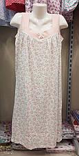 Жіноча нічна сорочка без рукава розмір 48-56, фото 2