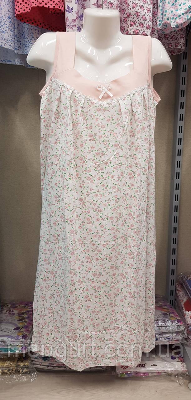 Жіноча нічна сорочка без рукава розмір 48-56