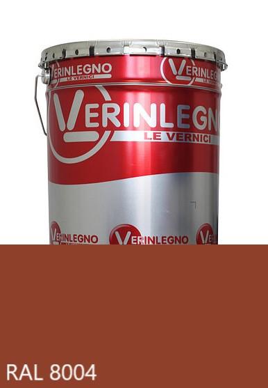 Краска полиуретановая для мебели Verinlegno Италия, Цвет  RAL 8004, двухкомпонентная