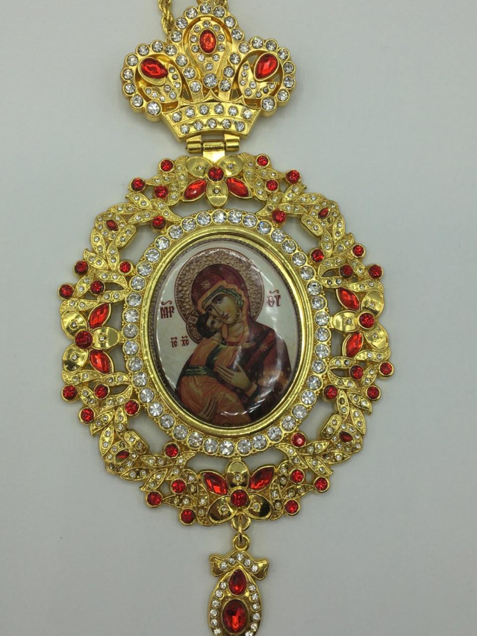 Панагия Божья Матерь под золото П0005
