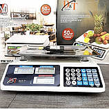 Ваги торгові електронні акумуляторні DT smart 809 до 50 кг, поділ 2г CG15 PR4 Підлогові ваги, фото 7