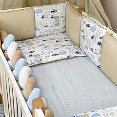 Бортики + простынь Baby Design City