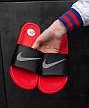 Шльопанці / Кросівок Nike Black Red, фото 3
