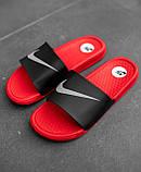 Шльопанці / Кросівок Nike Black Red, фото 4