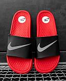 Шльопанці / Кросівок Nike Black Red, фото 5