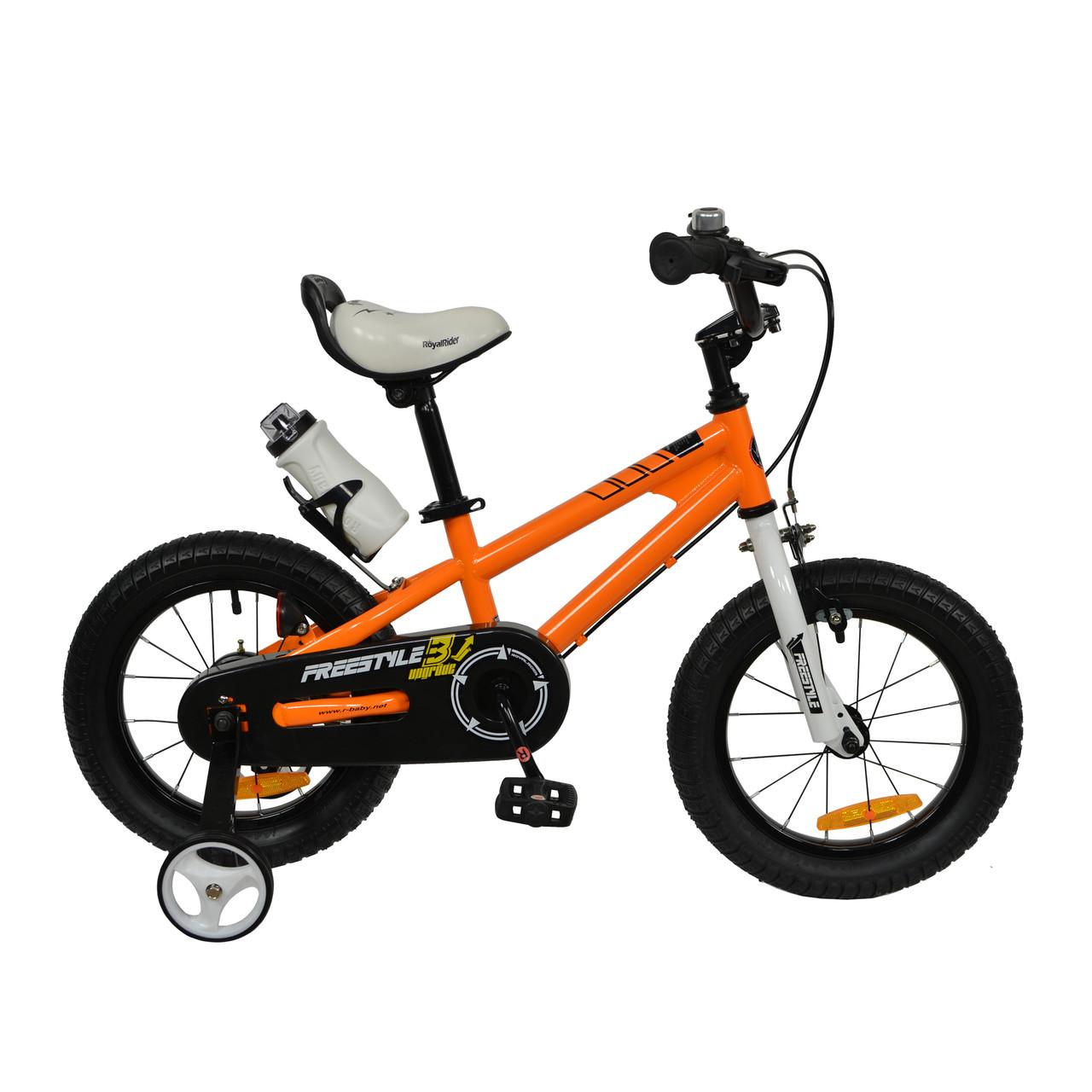 "Велосипед RoyalBaby FREESTYLE 16"", OFFICIAL UA, помаранчевий"