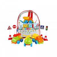 Набір іграшковий Транспорт Міні, в рюкзаку тм ТехноК