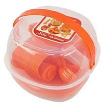 Набор пластиковой многоразовой посуды для пикника - Bita Picnic package 48 предметов на 6 персон