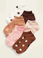 Набір занижених дитячих шкарпеток 6 пар Олд Неві для дівчинки