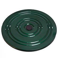 Диск здоровья (диск грация) полностю металический диаметром 28 см - зеленый