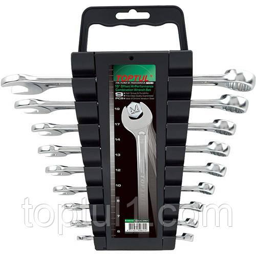Набір рожково-накидних ключів TOPTUL 9 шт. 6-19 мм GAAC0901