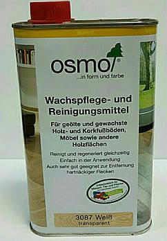 Восковая эмульсия для ухода и очистки древесины OSMO WACHSPFLEGE - und Reinigungsmittel 3087 белая прозрачная