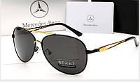 Мужские солнцезащитные очки Mercedes Benz 612 цвет черный с золотом, фото 1