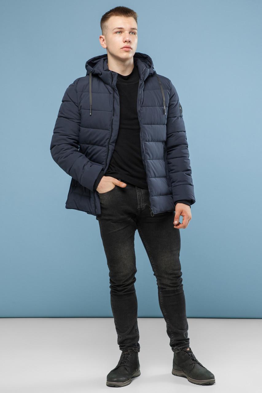 Стильная зимняя серая мужская куртка модель 6016