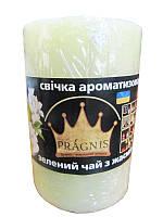 Арома-свеча цилидрическая Зеленый чай (Сувенирные и ароматические свечи)