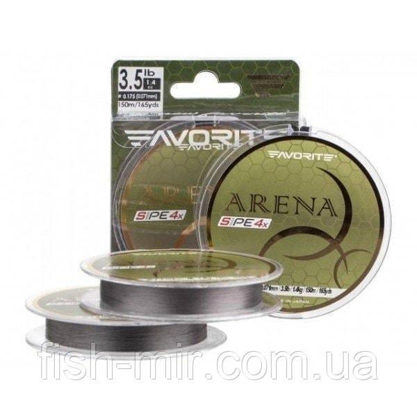 Arena PE 4x 150м #0.4/0.104mm 3.5kg silver gray шнур Favorite