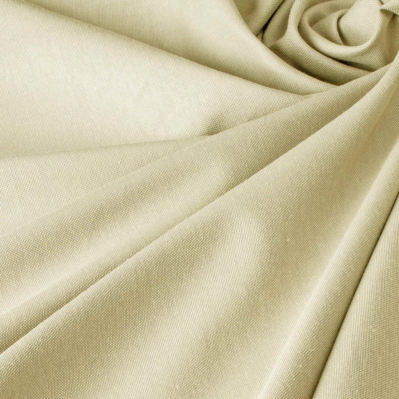 Декоративна однотонна тканина молочного кольору з тефлоновим просоченням 320см PFP - 00/84650