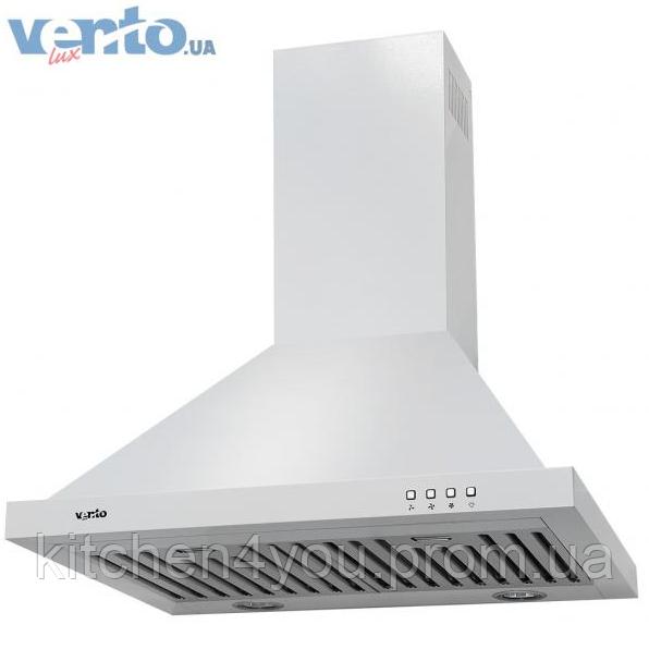 Ventolux Lazio 60 WH white кухонна витяжка камінного типу, біла емаль