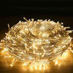 Гирлянда новогодняя Christmas Light LED 18 м Теплый свет 202103 ES, КОД: 2382555