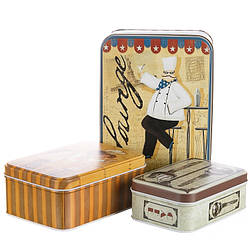 Набір з 3-х жерстяних банок Bon appetit 18,5х13х6,5 см 1049JH