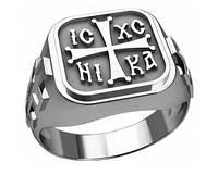 Кольцо серебряное Православное 30263