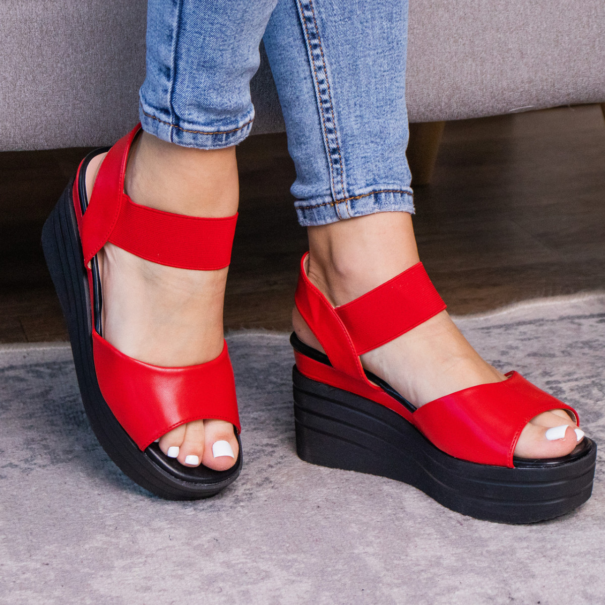 Женские сандалии Fashion Batista 3087 36 размер 23 см Красный