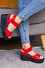 Женские сандалии Fashion Batista 3087 36 размер 23 см Красный, фото 7