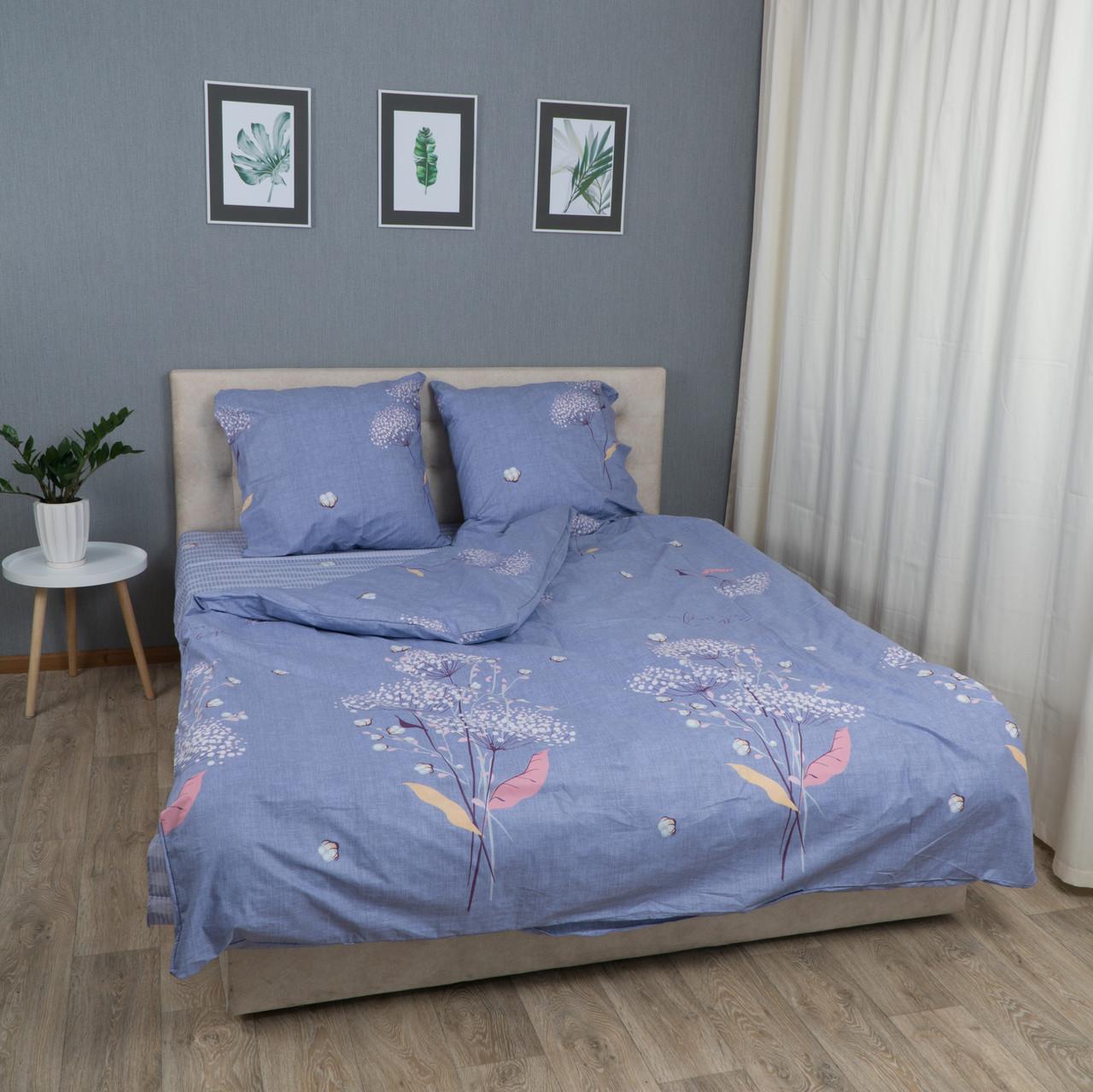 Комплект постельного белья Le Confort «Одуванчик на голубом» 180x220 Бязь