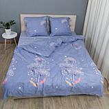 Комплект постельного белья Le Confort «Одуванчик на голубом» 180x220 Бязь, фото 3
