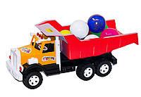 Вантажівка Фарго c великими кулями червоний. 009/2