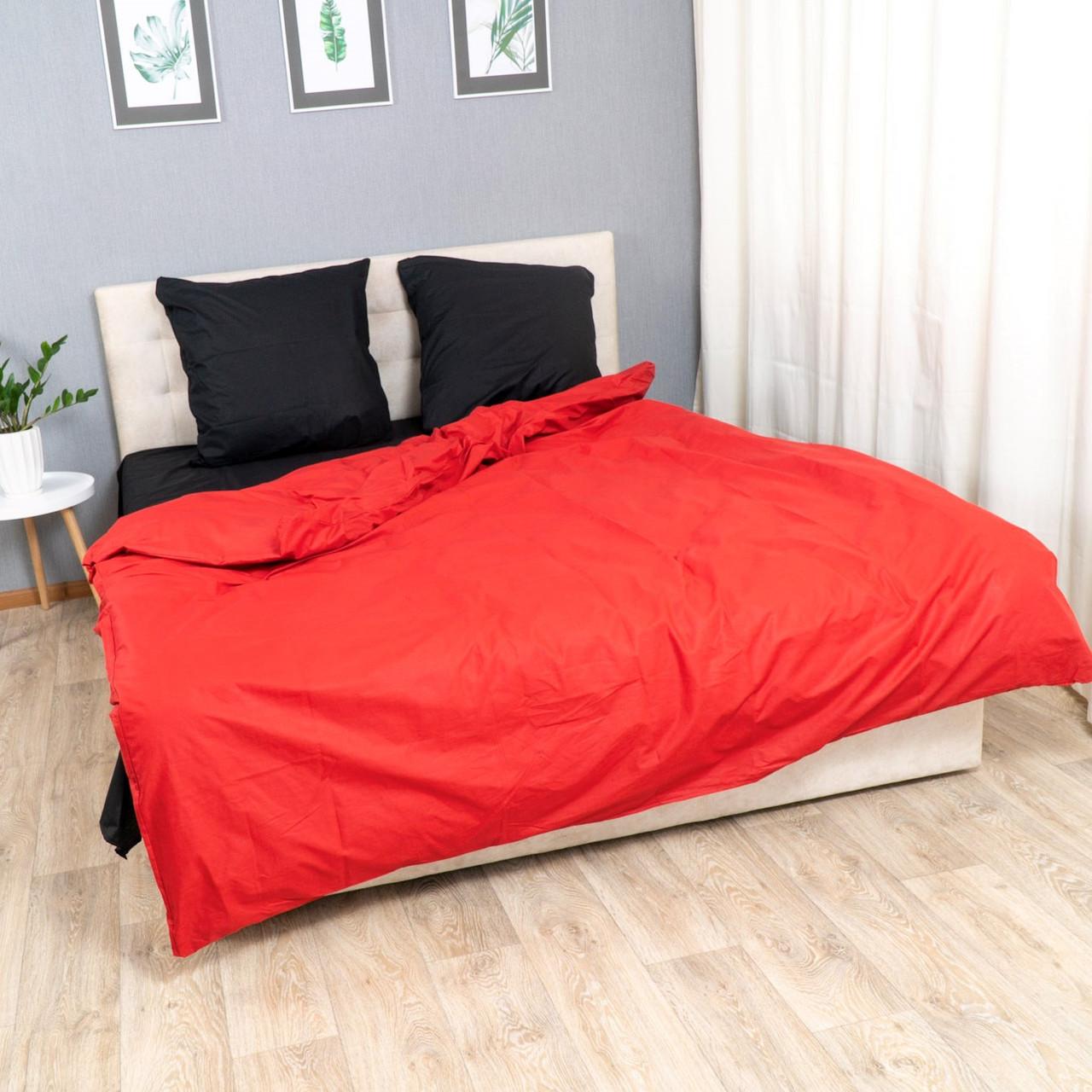 Комплект постельного белья Le Confort «Красно-чёрный»180x220 Бязь