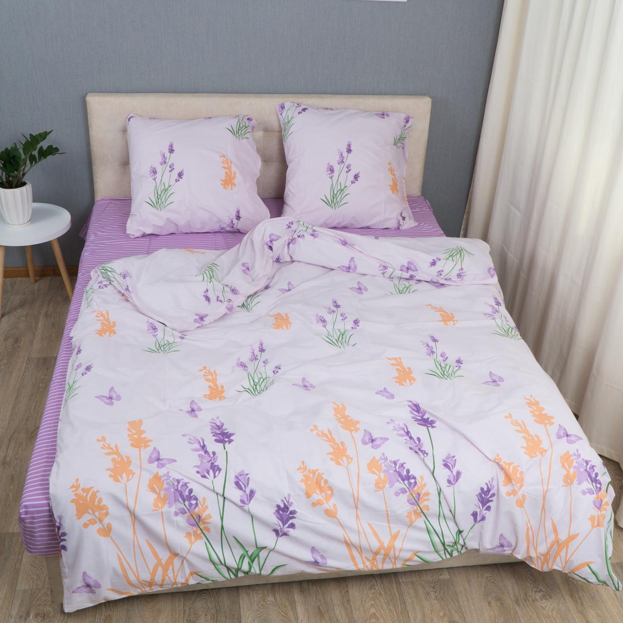 Комплект постельного белья Le Confort «Цветы на белом» 180x220 Бязь