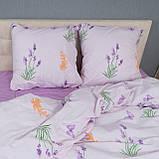 Комплект постільної Le Confort Квіти на білому Євро, фото 3