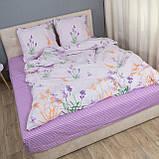 Комплект постільної Le Confort Квіти на білому Євро, фото 4