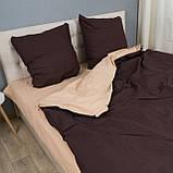 Комплект постельного белья Le Confort «Коричнево-бежевый» 200x220 Бязь, фото 2