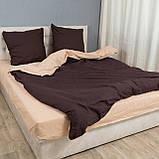 Комплект постельного белья Le Confort «Коричнево-бежевый» 200x220 Бязь, фото 3